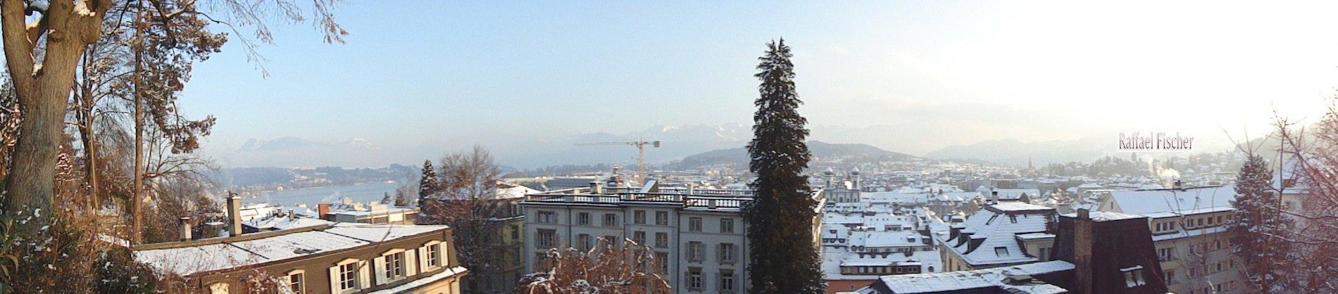 Panoramablick im Schnee