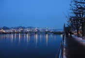 Seebrücke illuminiert