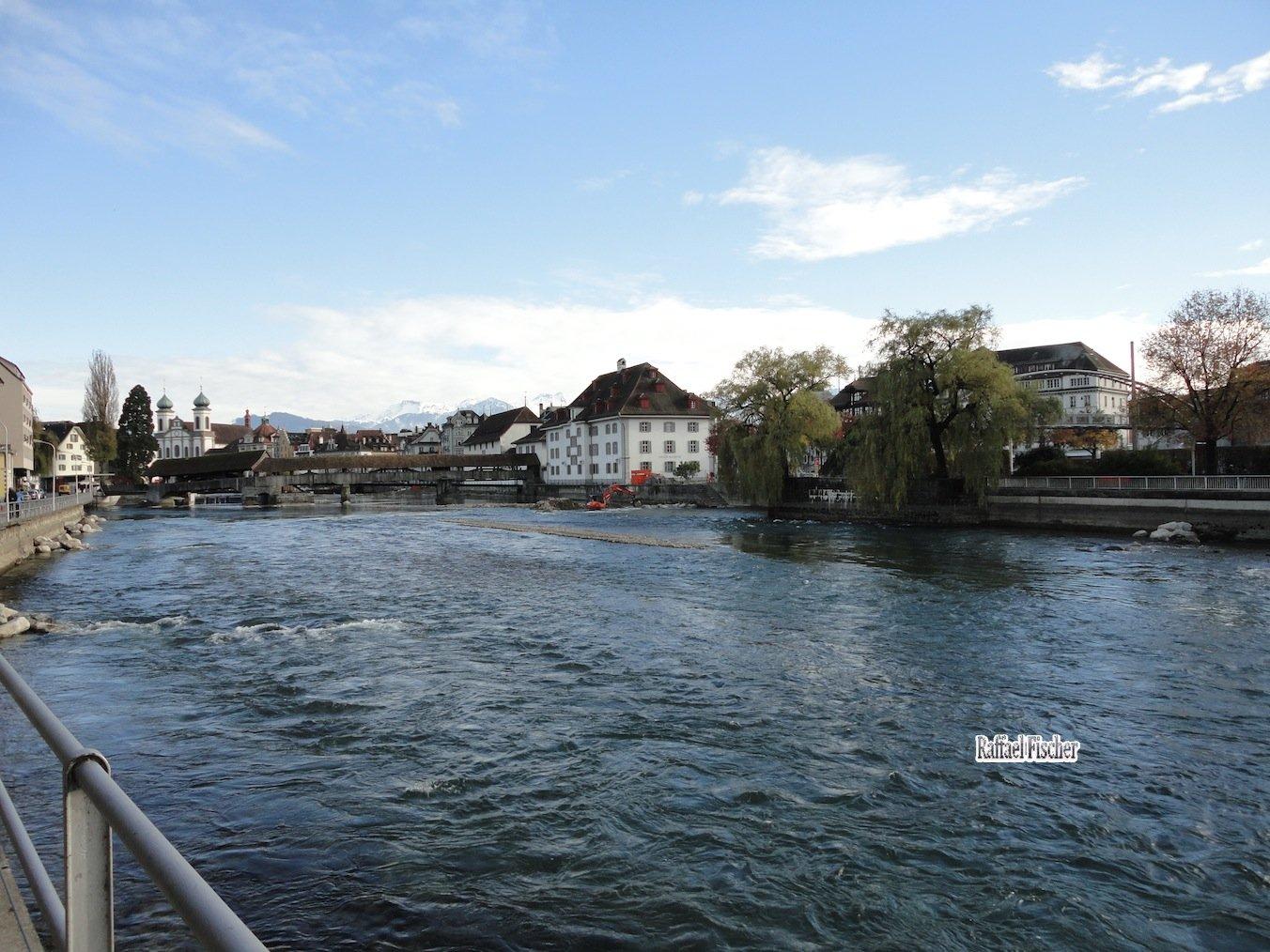 Reusswehr-Operation bei der Spreuerbrücke
