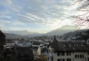 Luzern von oben vor Pilatus