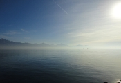 Lac Leman in Lausanne-Ouchy