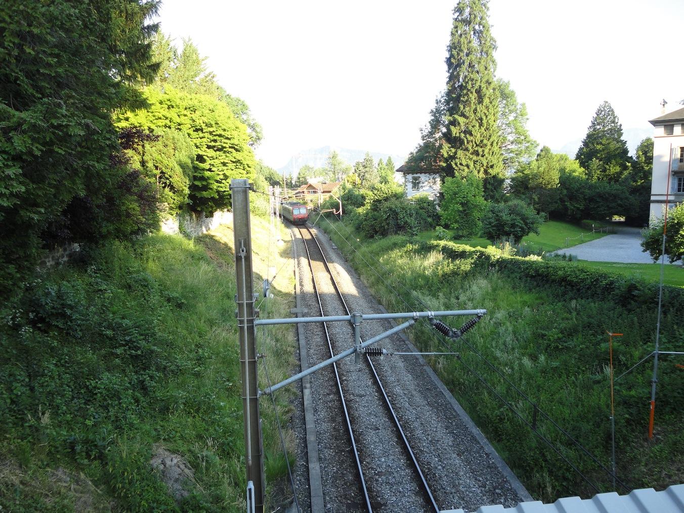 Zugfahrt zum Stadttunnel