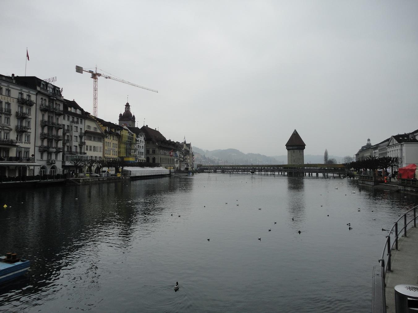 Kapellbrücke vor Fasnacht