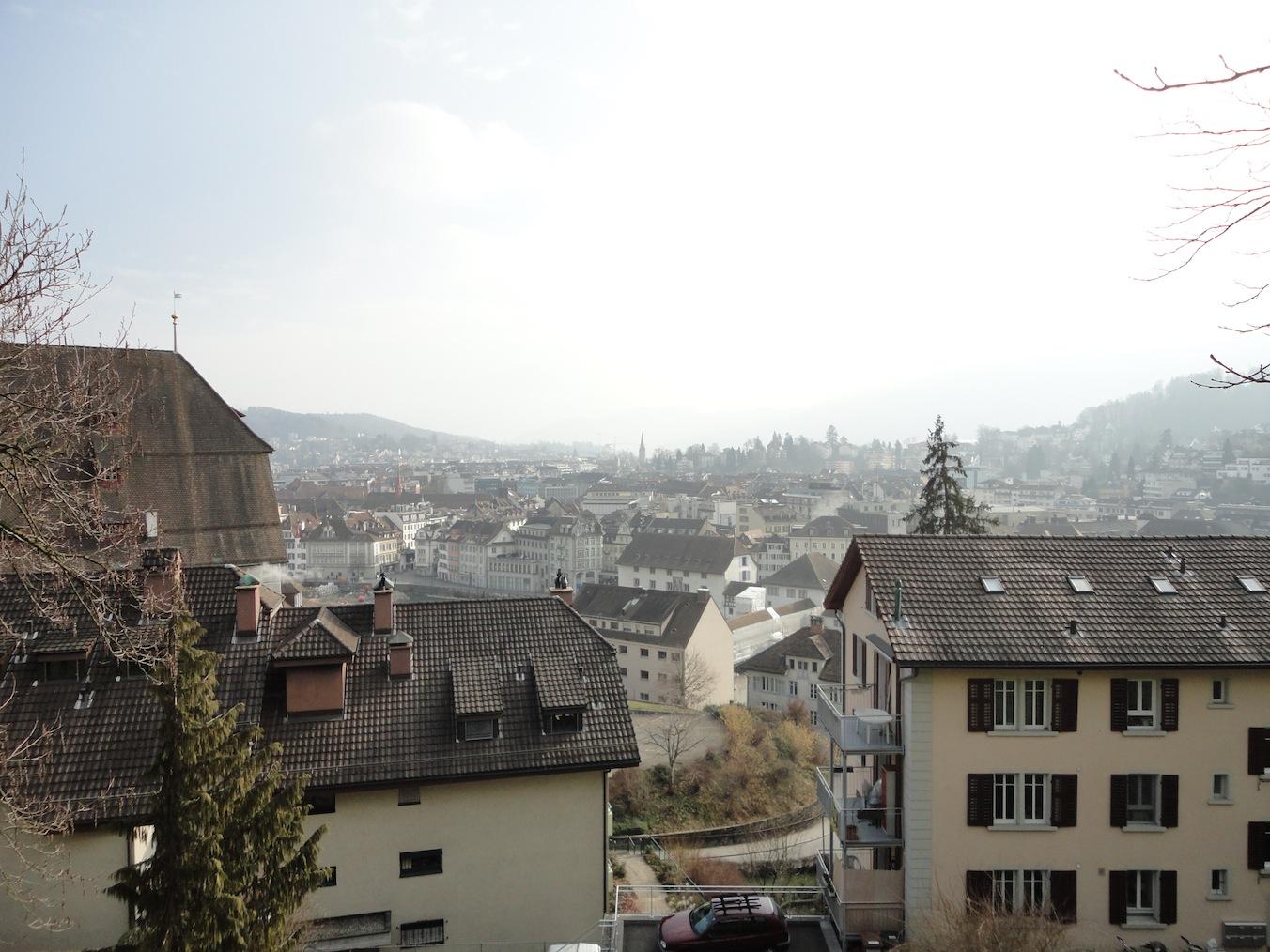 Luzern von oben: Reuss, Kasernenplatz, Obergrund