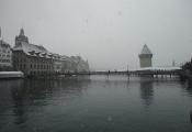 Kapellbrücke im Schnee