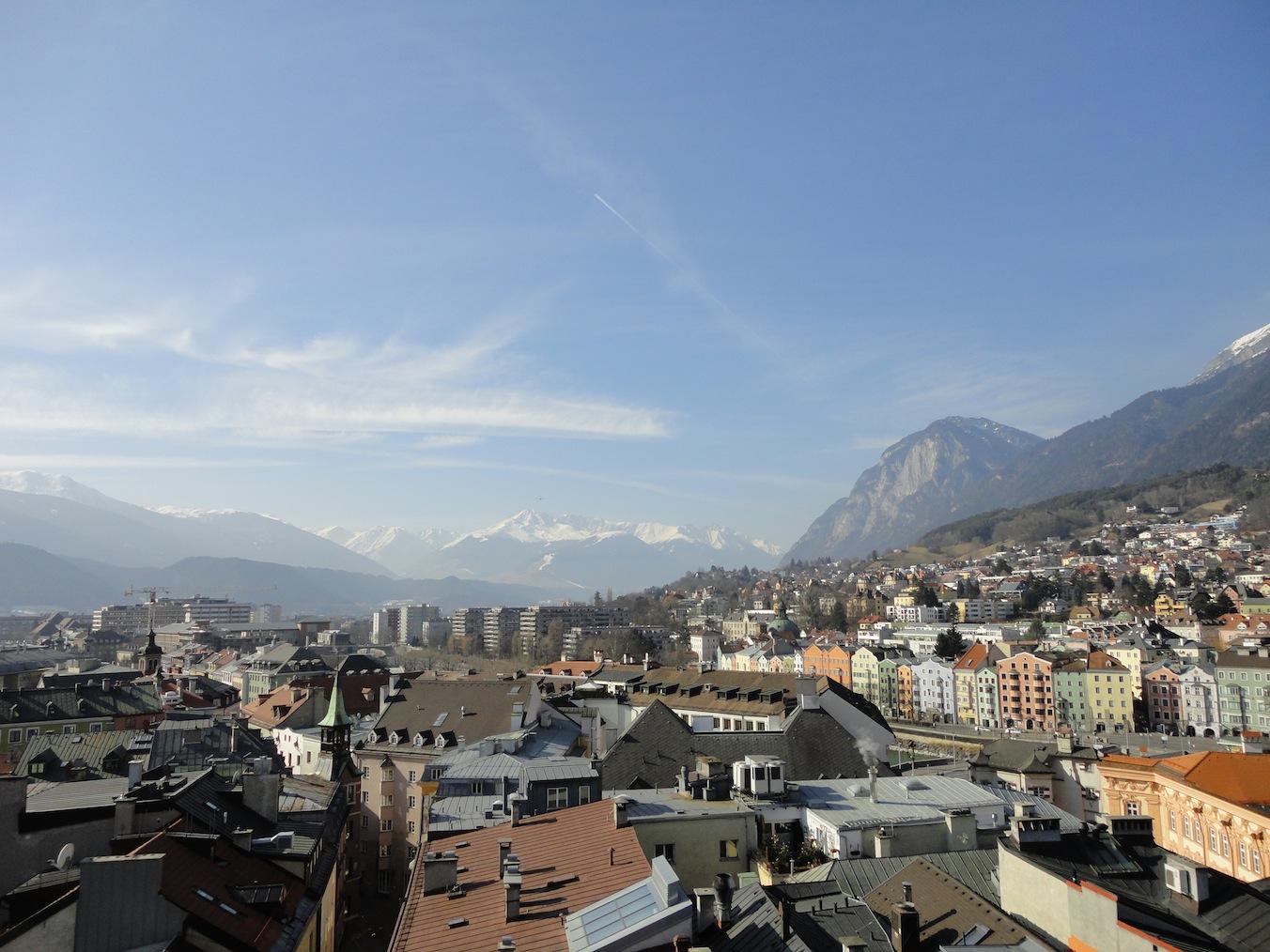 Bergblick in Innsbruck