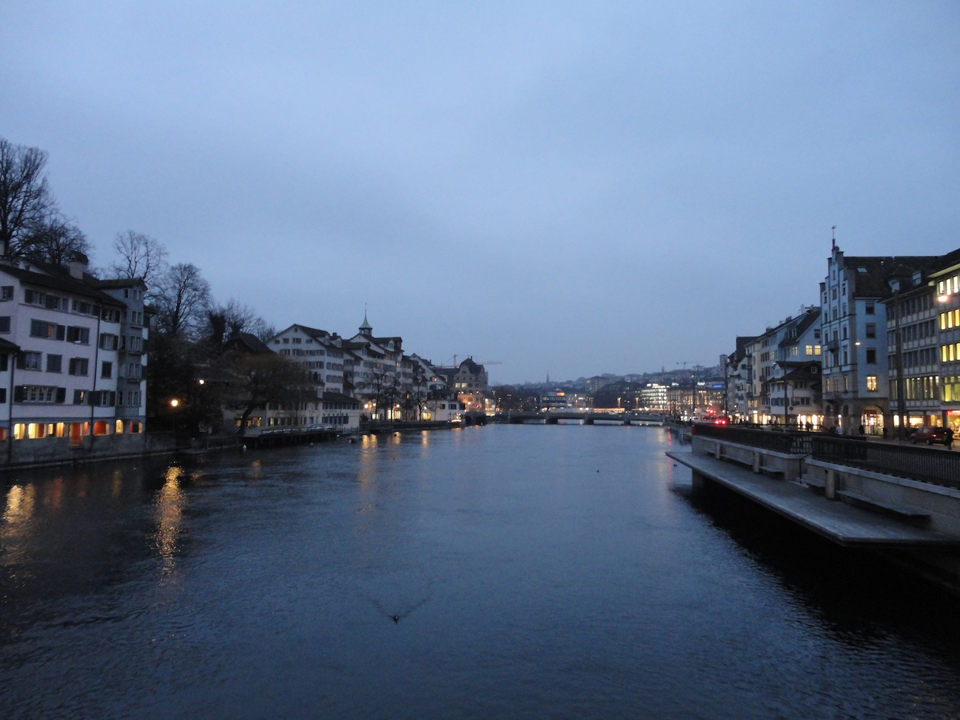 Dämmerung in Zürich