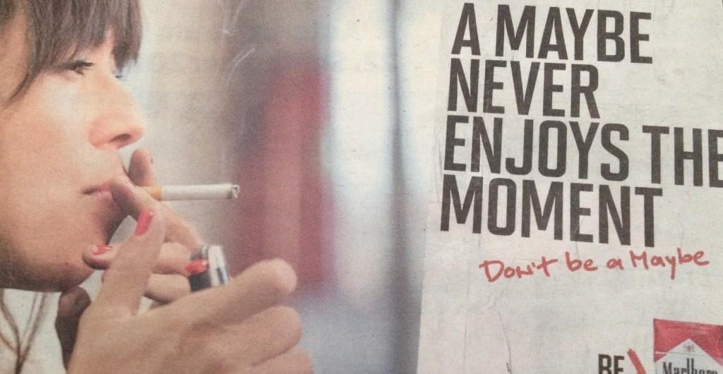 «Sei kein Weichei», so ungefähr wirbt die Tabaklobby.