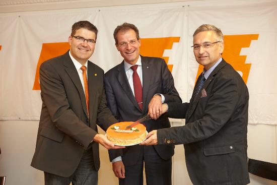CVP-Regierungsräte Wyss und Graf mit Parteipräsident Jung