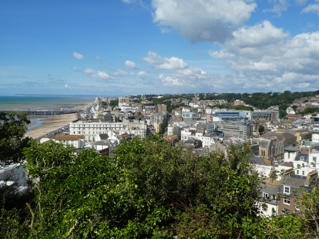 Hastings, as seen from Hastings Castle, 17 july 2018